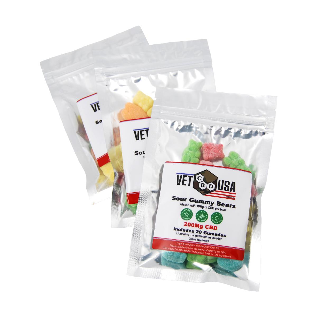 Sour Gummy Bag – Assorted 20 Gummies